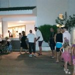start of bar queue 8.15pm