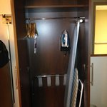 Closet with iron/boards