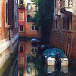 a beautiful side canal