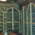 Downstairs wine cellar