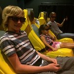 Chilling at the 4d movie.
