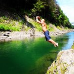 bottom of the gorge rock jumping