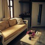 Living space in honeymoon suite