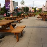 Seating Area outside Brewers Fayre