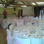 Not brill pics.....setting up wedding tables the night before.
