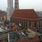 View of Frauenkirche under repair