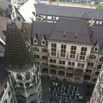 One of the courtyards of the Neues Rathaus