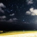 The stars were literally countless at the private beach