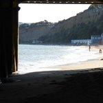 The view under Sandown Pier