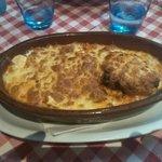 Tris Bella Lisa (tortellini, cannellone e lasagna affogati nel formaggio)