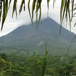 Arenal volcano view from hotel window
