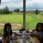 My girls loving both the view and food ☺