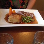 Duck with spring onion and ginger sauce