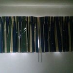 The curtains in the room