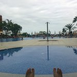 View of pool from Sun beds closest to the bars