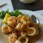 la frittura di gamberi e calamari
