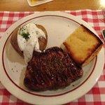 carne con patata e pane