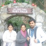 My family at the entrance