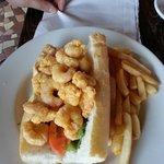 Shrimp po boy. Husband said it was very good.