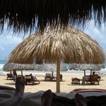 View from a beach cabana in the Excellence Club beach area