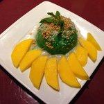 Coconut rice with mango