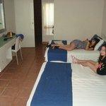 Dormitorio (Camas muy amplias y comodas)
