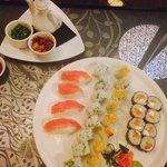 Sushi time at tsuki restaurant