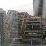 """Vista dalla mia camera al 12 esimo piano su """"le vele"""" di Parigi (fotocopia di quelle di Napoli)"""