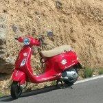 Op de Vespa naar Montaneos, warmwater bronnen, 95 km vanaf Valencia. Geen probleem hoor!!