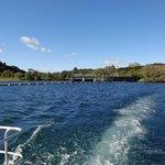 Looking back at the Aratiatia Dam