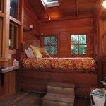 Bed area inside