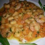 Pumpkin shrimp gnocchi