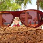 beach trhough the glasses
