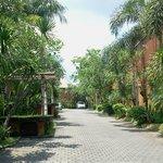 Private lane outside villa