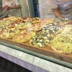 Vista de las pizzas