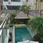 Pool from 2nd storey