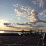 Cool clouds at ferry dock