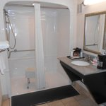 Walk-in shower in accessible room