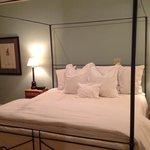 the bedroom in suite 1