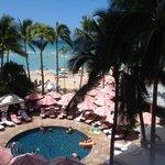 Royal Hawaiian Hotel beach area