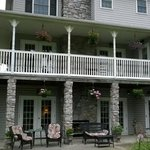 the side porches and rooms of the inn