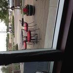 outdoor seating is available