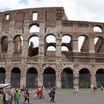 The Colosseum - but you knew that hey?  We bought a great book from a local stall, showing prese