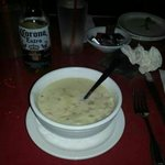Great clam chowder at the Rainbow!