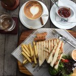 Salmon & cream cheese sandwich