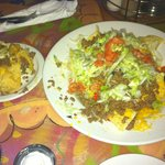 Nachos with beef appetizer, GREAT!