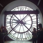 Look through the clock to Montmartre