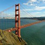 Golden Gate Bridge, with San Francisco beyond
