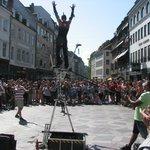 Stroget street performer
