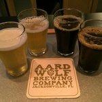 Aardwolf beer flight